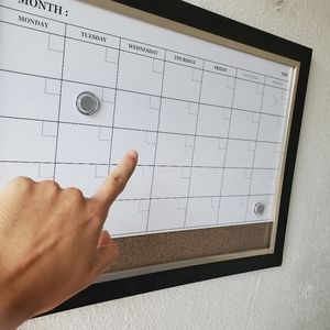 Schedule month wall planning squere stay organized